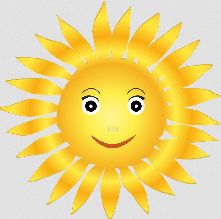 Картинка солнышка с лучиками анимация, пальцами вверх
