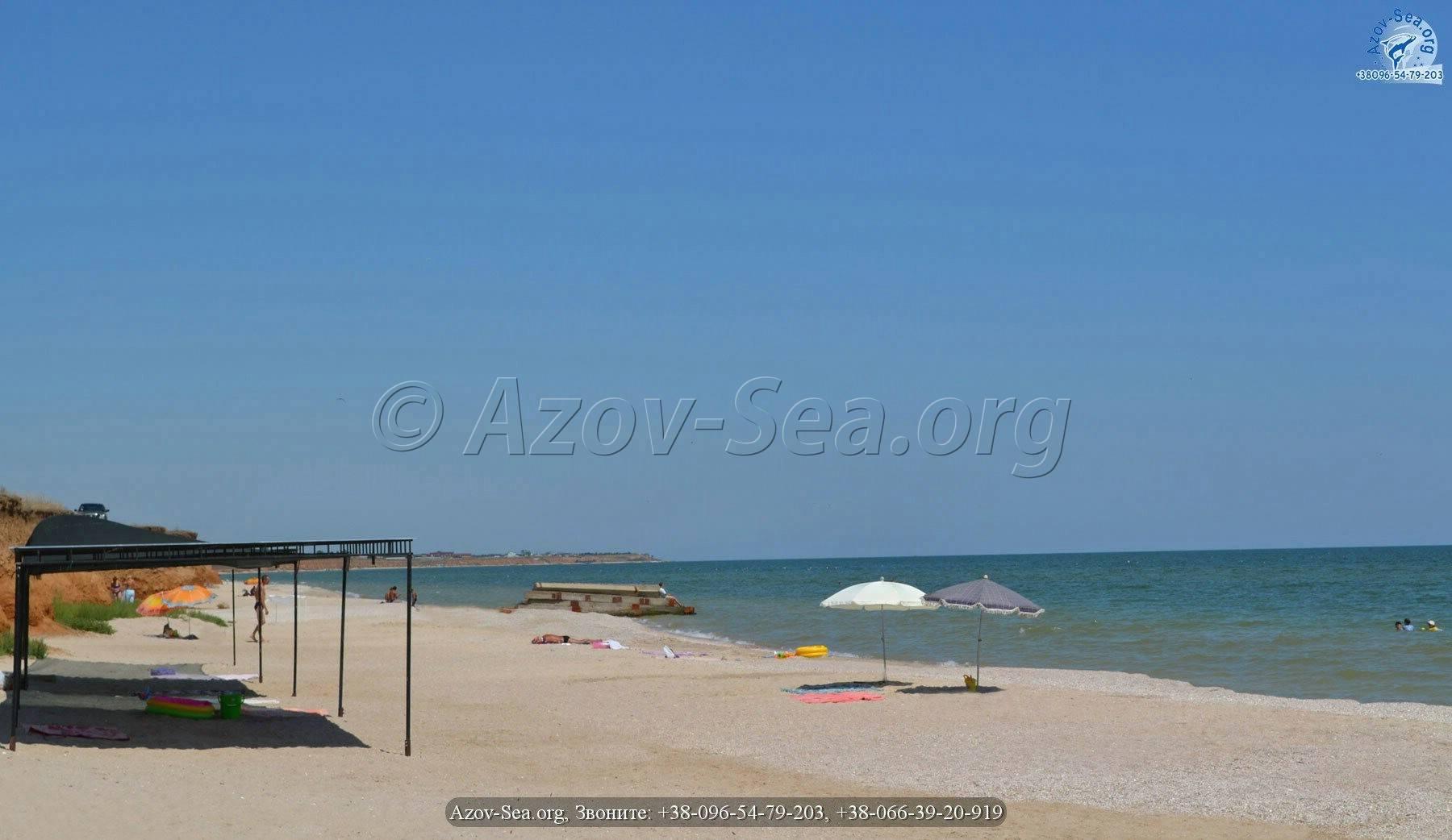 Азовское море - Пляж в Степановке Первой