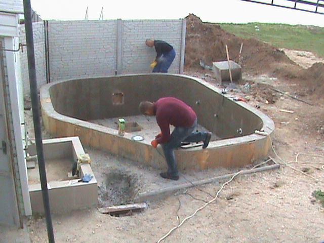 Строительство детского бассейна. Комплекс пансионатов Степановка-Семейный-Бирюза