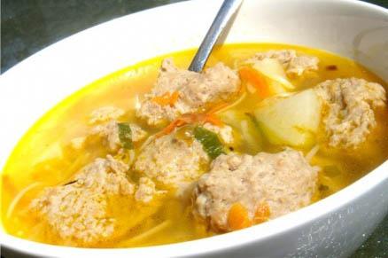 Вкусный суп с фрикаделькам