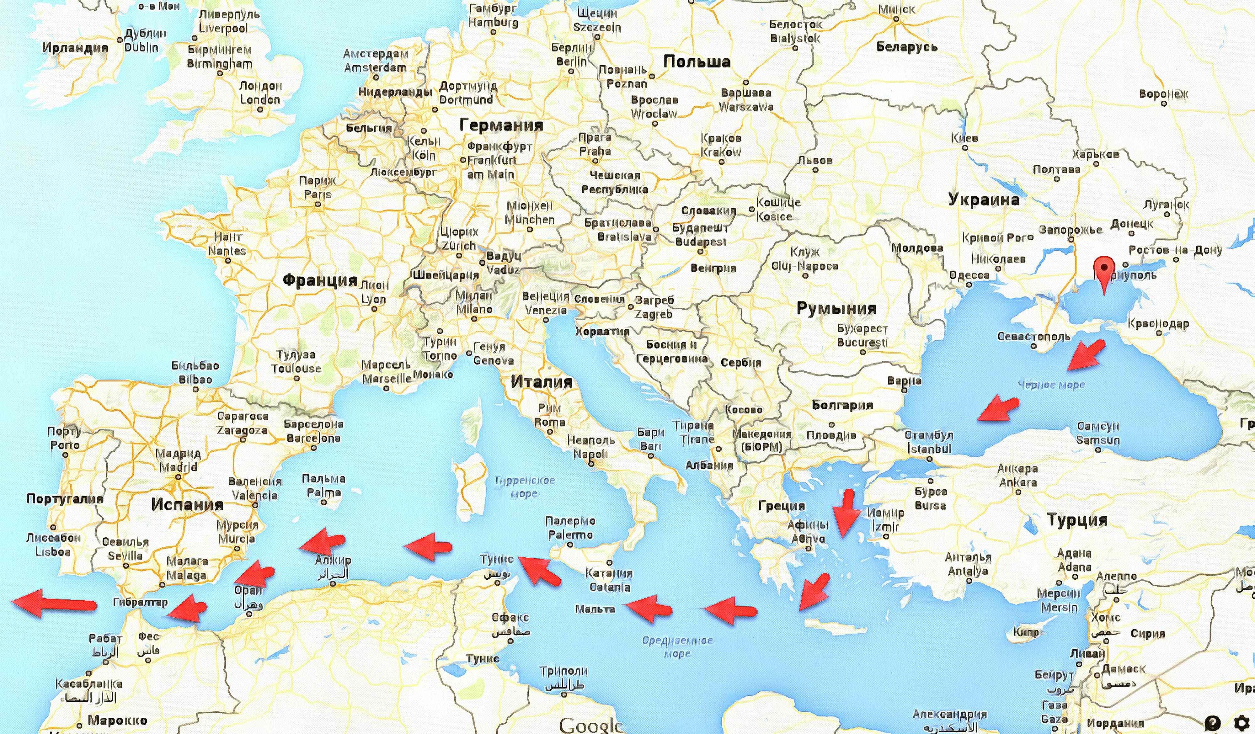 Карра пролвв чернова моря