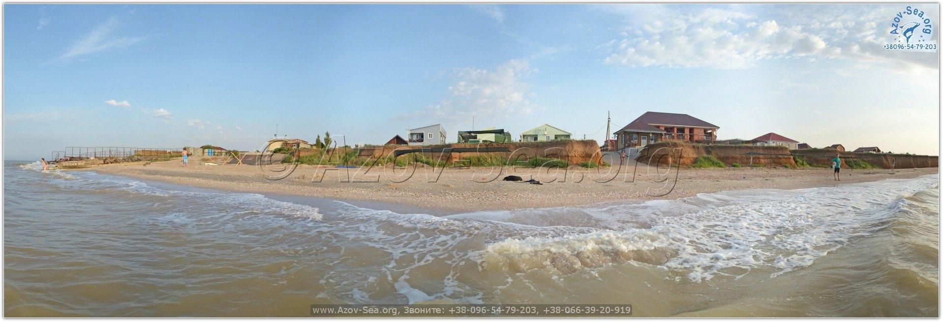 Азовское море. Пляж в Степановке Первой.