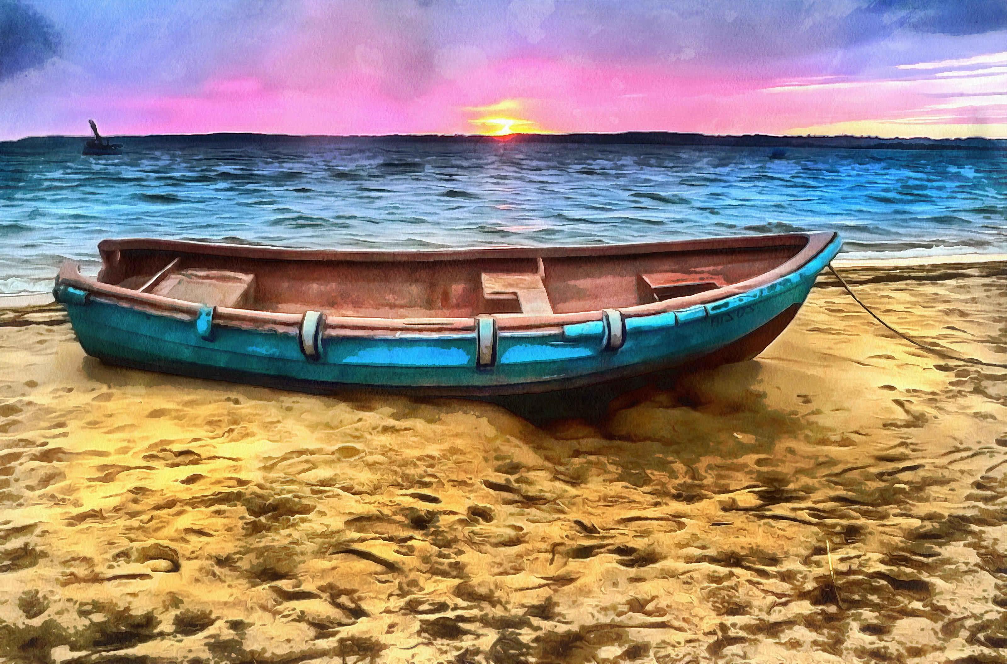 Рыбалка. Азовское море. Лодка.