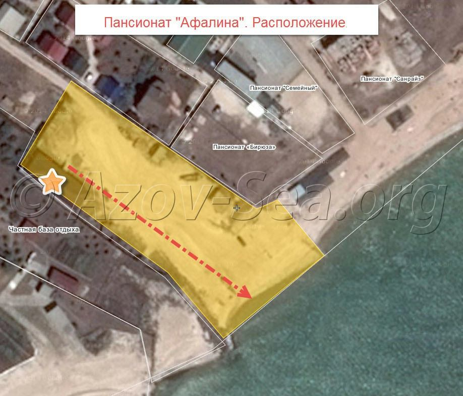 Пансионат Афалина. Спутниковая карта расположения.
