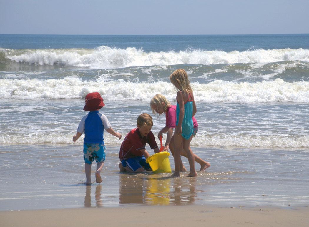 Дети на пляже - Степановка Первая.