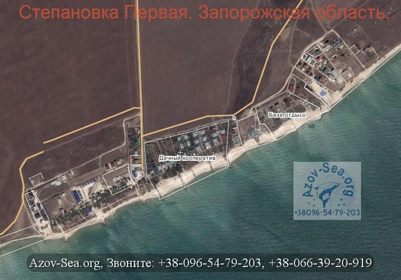 Степановка Первая. Базы отдыха. Карта.