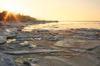 Глыбы льда. Азовское море