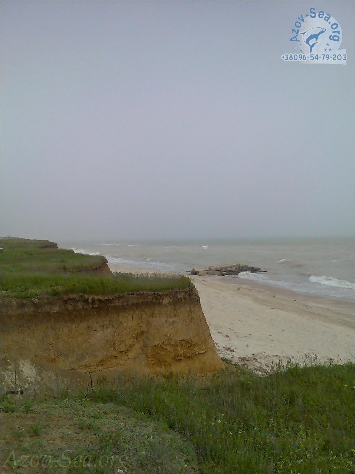 Туман на берегу Азовского моря. Красиво. Степановка Первая.