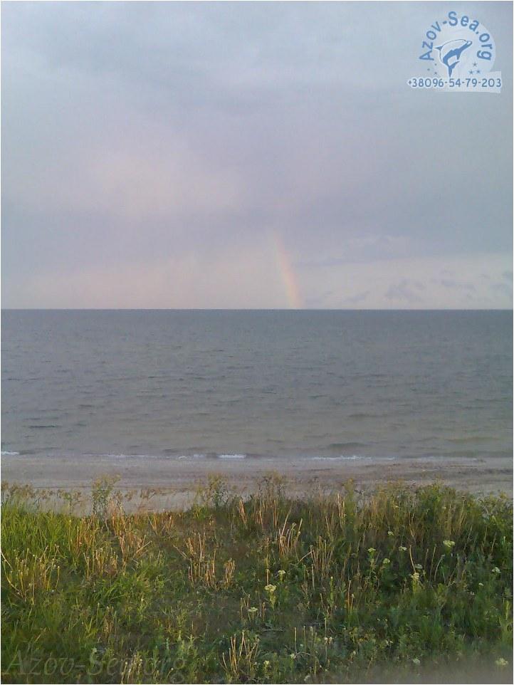 Красивая радуга на берегу Азовского моря. Степановка 1.